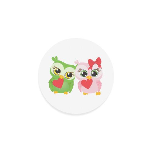 Love Owls Round Coaster