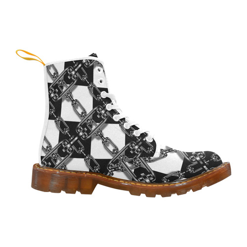 Checkered Chains Martin Boots For Women Model 1203h Id