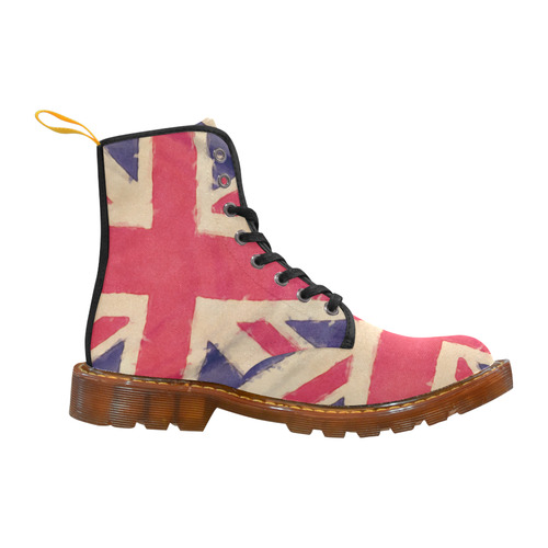 British UNION JACK flag grunge style Martin Boots For Women Model 1203H