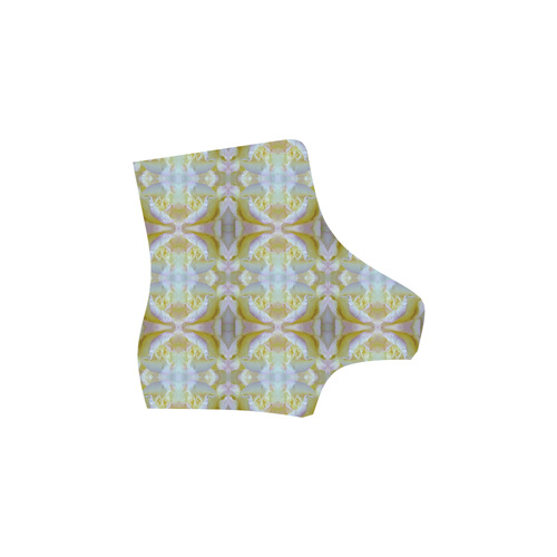 White Yellow  Pattern Martin Boots For Women Model 1203H