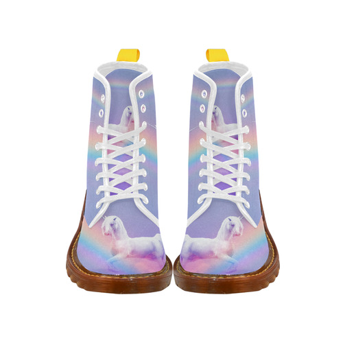 Unicorn and Rainbow Martin Boots For Women Model 1203H