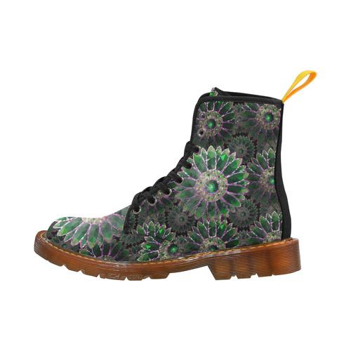 Mosaic Flower Pattern Martin Boots For Women Model 1203H