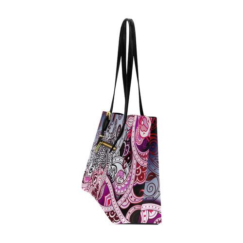 Vintage Floral Decorative Pattern Euramerican Tote Bag/Large (Model 1656)