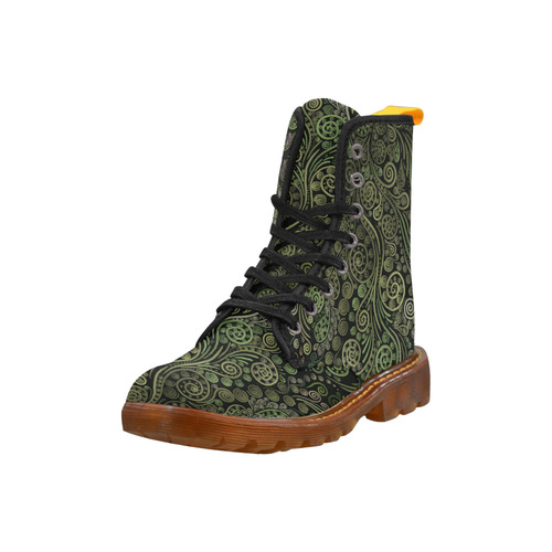 3D Ornaments -Fantasy Tree, green on black Martin Boots For Women Model 1203H