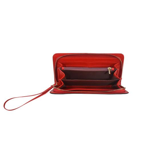Designers stylish Wallet / PURPLE COLLECTION 60s Inspired Art Women's Clutch Wallet (Model 1637)