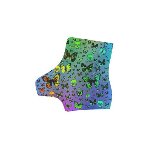 Rainbow Skulls & Butterflies Martin Boots For Women Model 1203H
