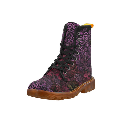 Psychedelic 3D Rose Martin Boots For Women Model 1203H