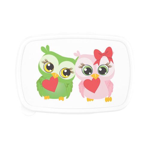 Cute Owl Love Children's Lunch Box