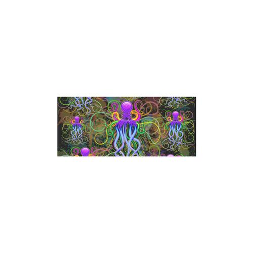 Octopus Psychedelic Luminescence Sleeveless Splicing Shift Dress(Model D17)