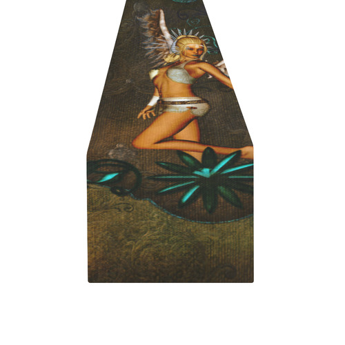 Awesome angel vintage design Table Runner 14x72 inch