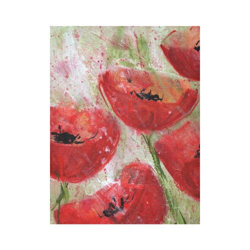 "CORNFLOWER © Pimpinella Art Cotton Linen Wall Tapestry 60""x 80"""