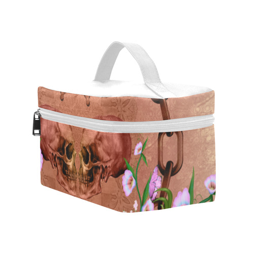 Awesome skulls with flowres Cosmetic Bag/Large (Model 1658)