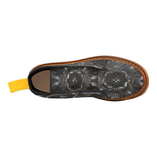 Dark Flower Tile Martin Boots For Men Model 1203H