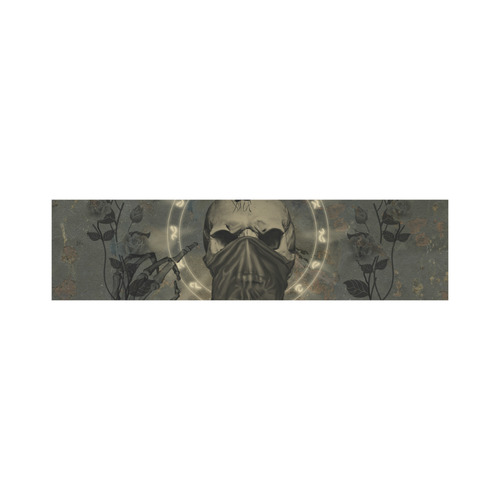 The creepy skull with spider Cosmetic Bag/Large (Model 1658)