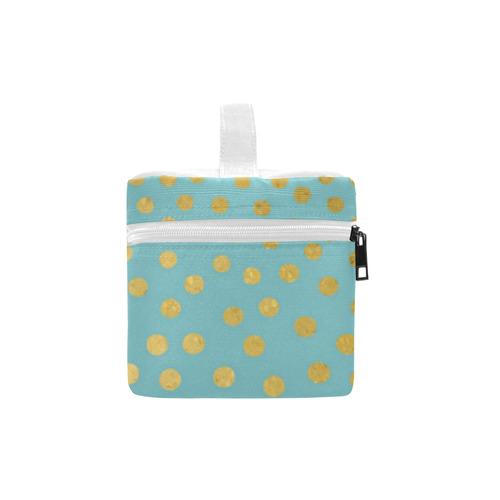 Gold Elegance Polka Dots Shower Lunch Bag/Large (Model 1658)