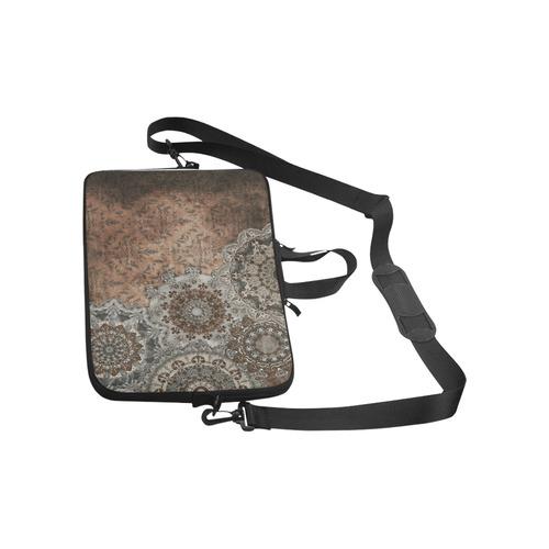 Elegant grey brown vintage mandalas Macbook Pro 13''