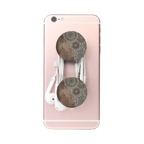 Elegant grey brown vintage mandalas Air Smart Phone Holder