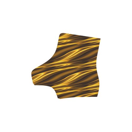 Elegant Gold Waves Martin Boots For Women Model 1203H