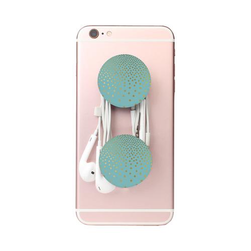 Gold Elegance Polka Dots Shower Air Smart Phone Holder
