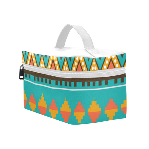 Tribal design in retro colors Cosmetic Bag/Large (Model 1658)