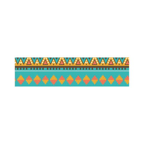 Tribal design in retro colors Lunch Bag/Large (Model 1658)