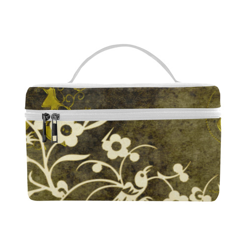 Flowers with birds, tribal Lunch Bag/Large (Model 1658)