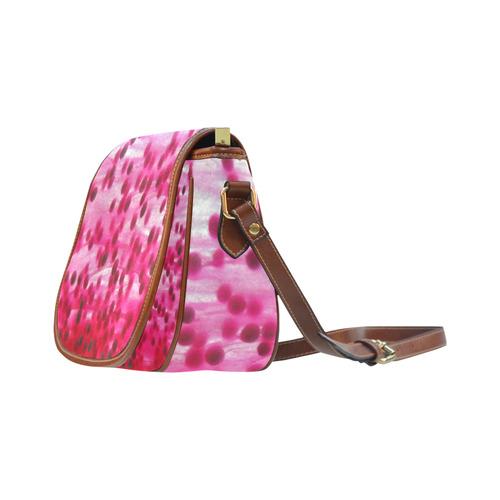 PINK BUBBLES © Pimpinella Art Saddle Bag/Large (Model 1649)
