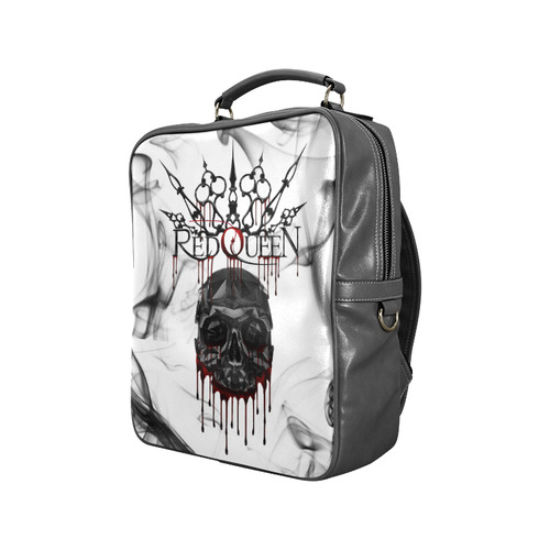 Red Queen Skull Blood Black Square Backpack (Model 1618)