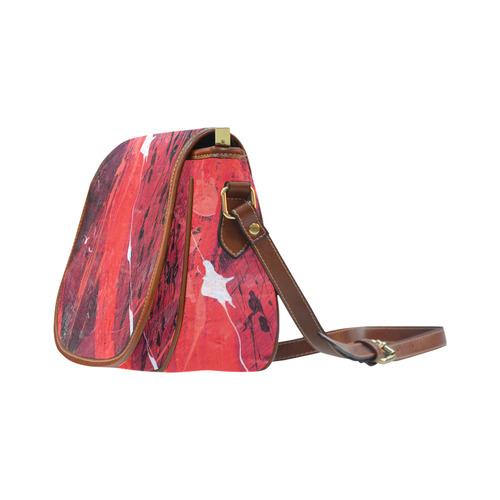 BLACK AND RED © Pimpinella Art Saddle Bag/Large (Model 1649)