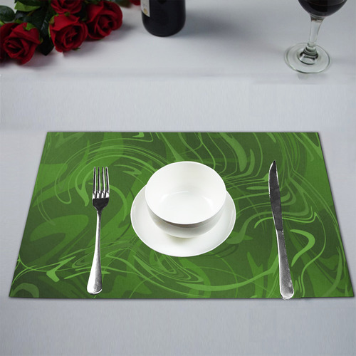 elegant modern swirl pattern Placemat 12''x18''