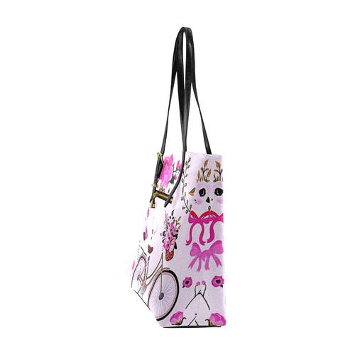 @mabee spring time in Paris Euramerican Tote Bag/Small (Model 1655)