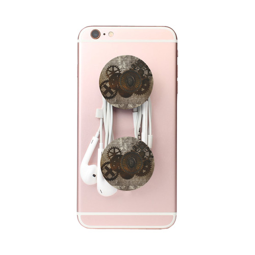 A rusty steampunk letter with gears Air Smart Phone Holder