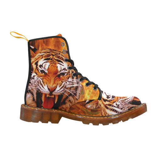 Tiger and Flame Martin Boots For Women Model 1203H