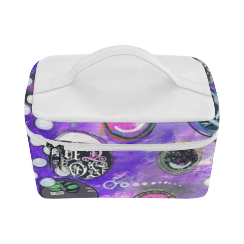 purple new Cosmetic Bag/Large (Model 1658)