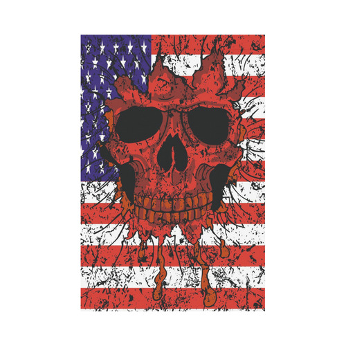 american flag skull garden flag 12 x18 without flagpole id