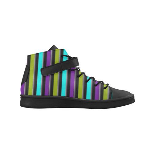 retro stripe 1 Lory High Top Men's Shoes (Model 310)