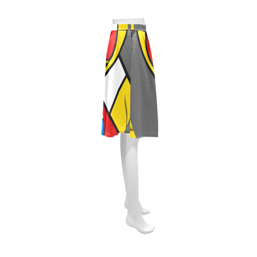 Right in the heart by Nico Bielow Athena Women's Short Skirt (Model D15)
