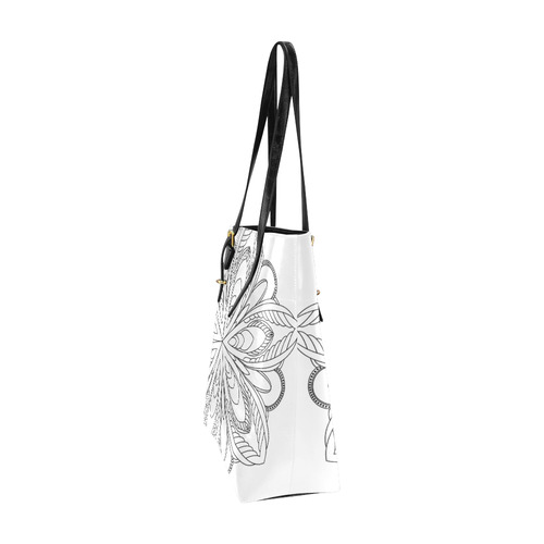 Black and white Euramerican Tote Bag/Small (Model 1655)