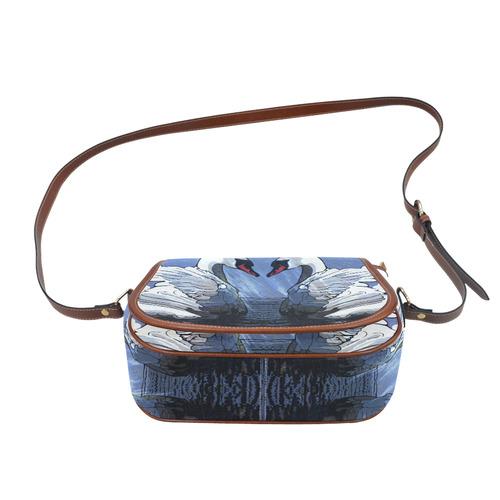 SWANS © Pimpinella Art Saddle Bag/Large (Model 1649)