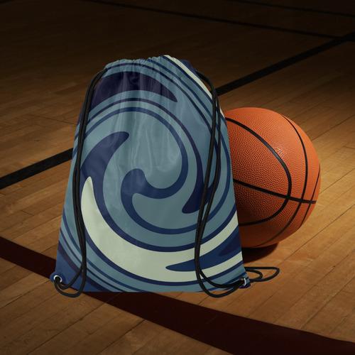 "CIRCLES © Pimpinella Art Basketball Drawstring Bag Model 1604 (Twin Sides)  16.5""(W) * 19.3""(H)"
