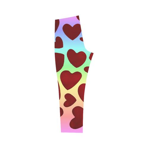 Rainbow Hearts Capri Legging (Model L02)