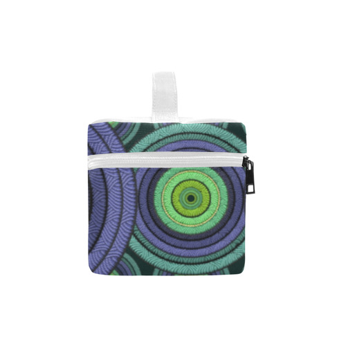 Green and Blue Stitched pattern Cosmetic Bag/Large (Model 1658)