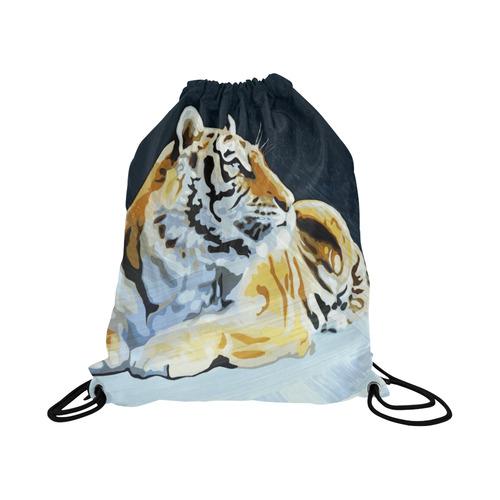 "TIGER © Pimpinella Art Basketball Drawstring Bag Model 1604 (Twin Sides)  16.5""(W) * 19.3""(H)"