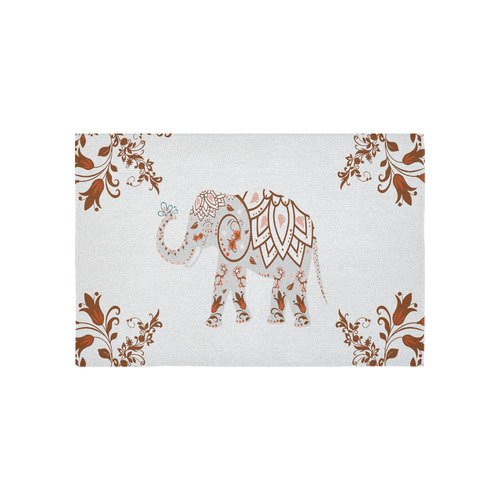 patterned elephant butterfly wall tapestry cotton linen wall