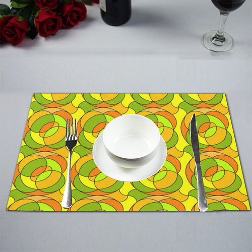 Retro Pattern 1973 A by JamColors Placemat 12''x18''