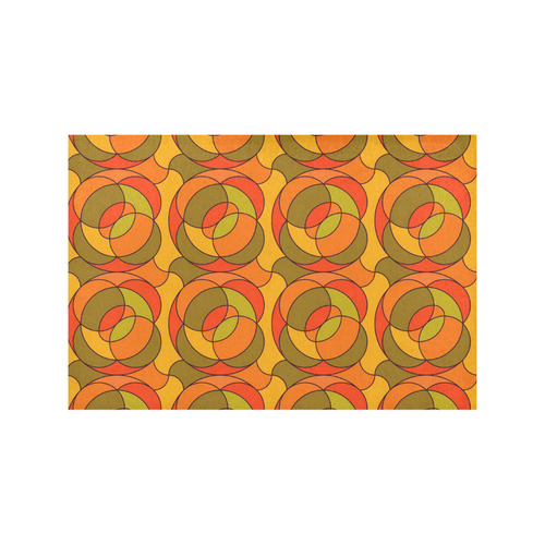 Retro Pattern 1973 H by JamColors Placemat 12''x18''