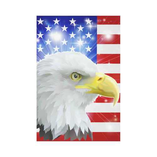 American eagle flag Garden Flag 12''x18''(Without Flagpole)