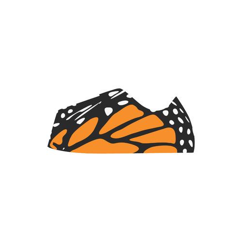 Monarch, Black and Orange Suede Women Shoes (Model 306)