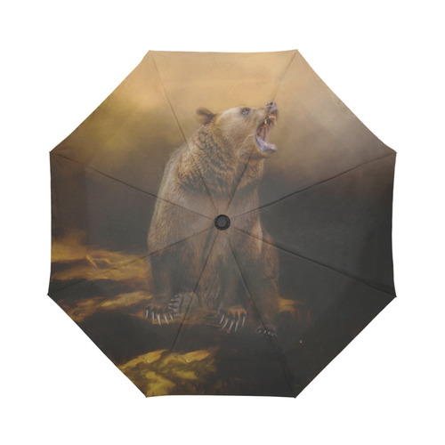Roaring grizzly bear Auto-Foldable Umbrella (Model U04)
