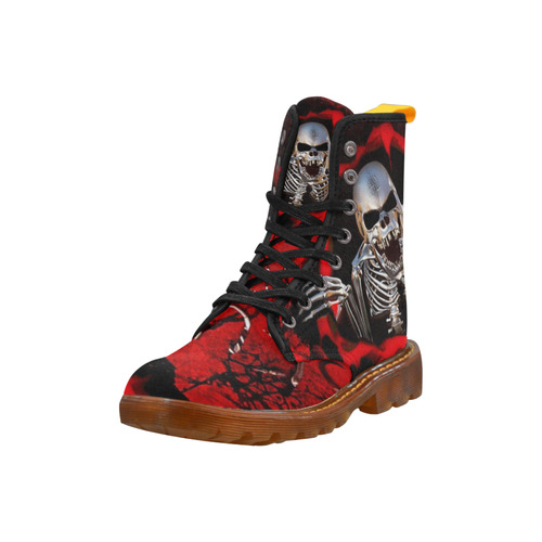 Awful Skull Martin Boots For Women Model 1203H